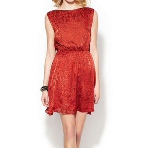 ALICE + OLIVIA ANNICE RED DRESS